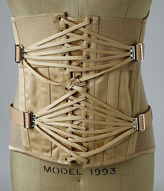The Metropolitan Museum of Art - Corset Dolce & Gabbana. Love the fan lacing.