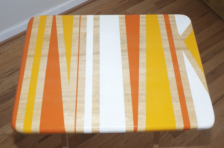 DIY Painted TV Trays.