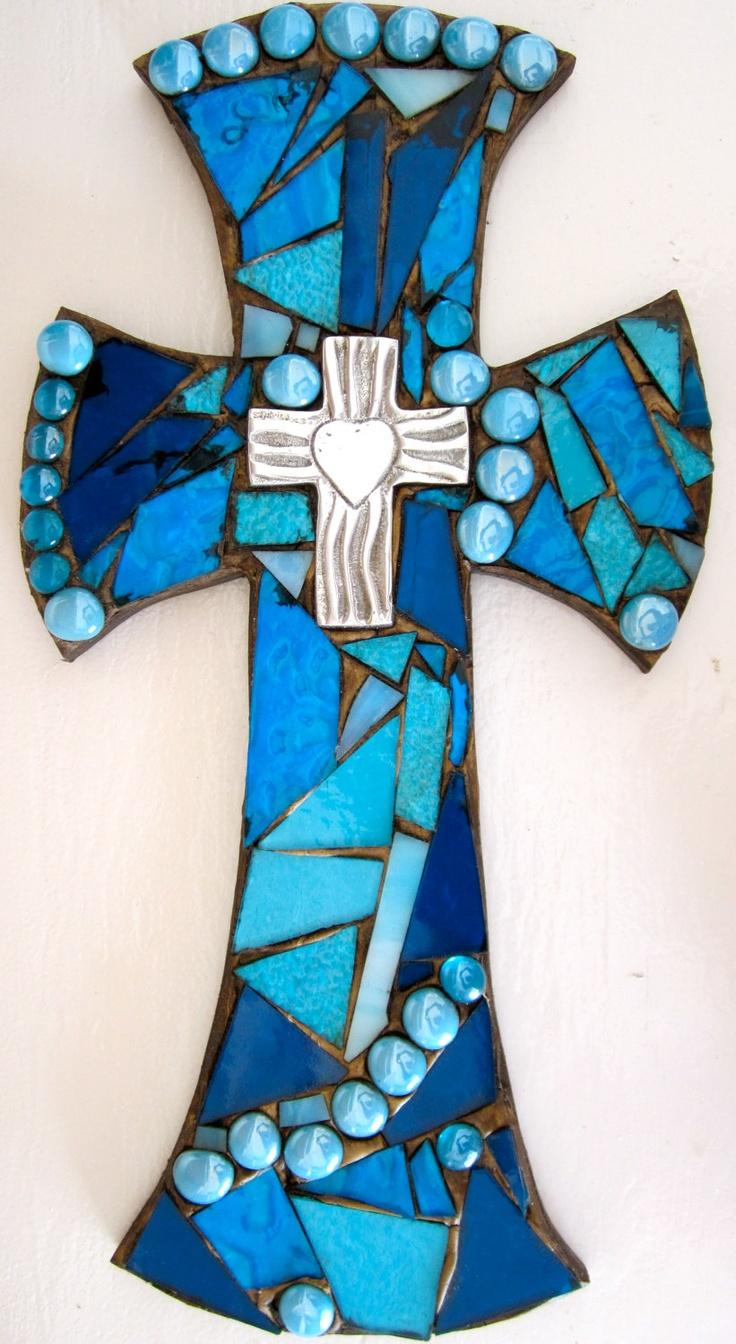 Mosaic Wall Cross. , via Etsy.