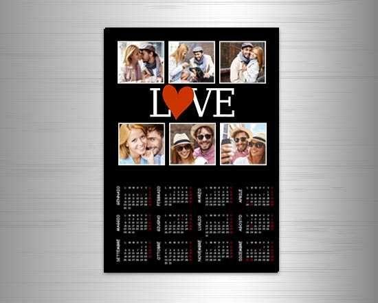 Grandioso calendario magnetico collage