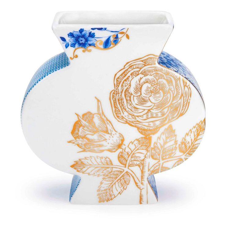 PiP Royal White Vaas - Blauw