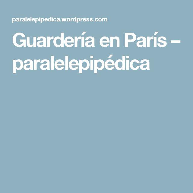Guardería en París – paralelepipédica