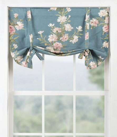 Hidcote Floral Tie Up Valance Country Curtains