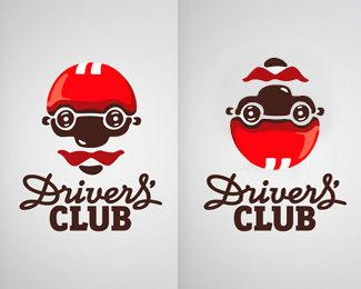cool logo: i like this logo because of its capability to be two designs at once. First is a face then a car with a scenery.