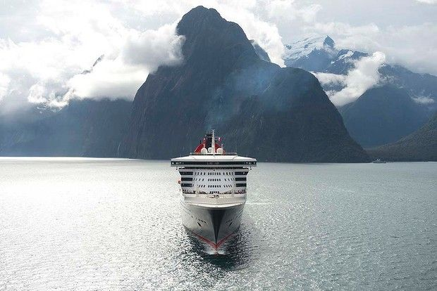 Queen Mary 2 becomes the largest ship to ever sail New Zealand's Milford Sound. The 151,400 tonne ocean liner carried 2500 guests through th...