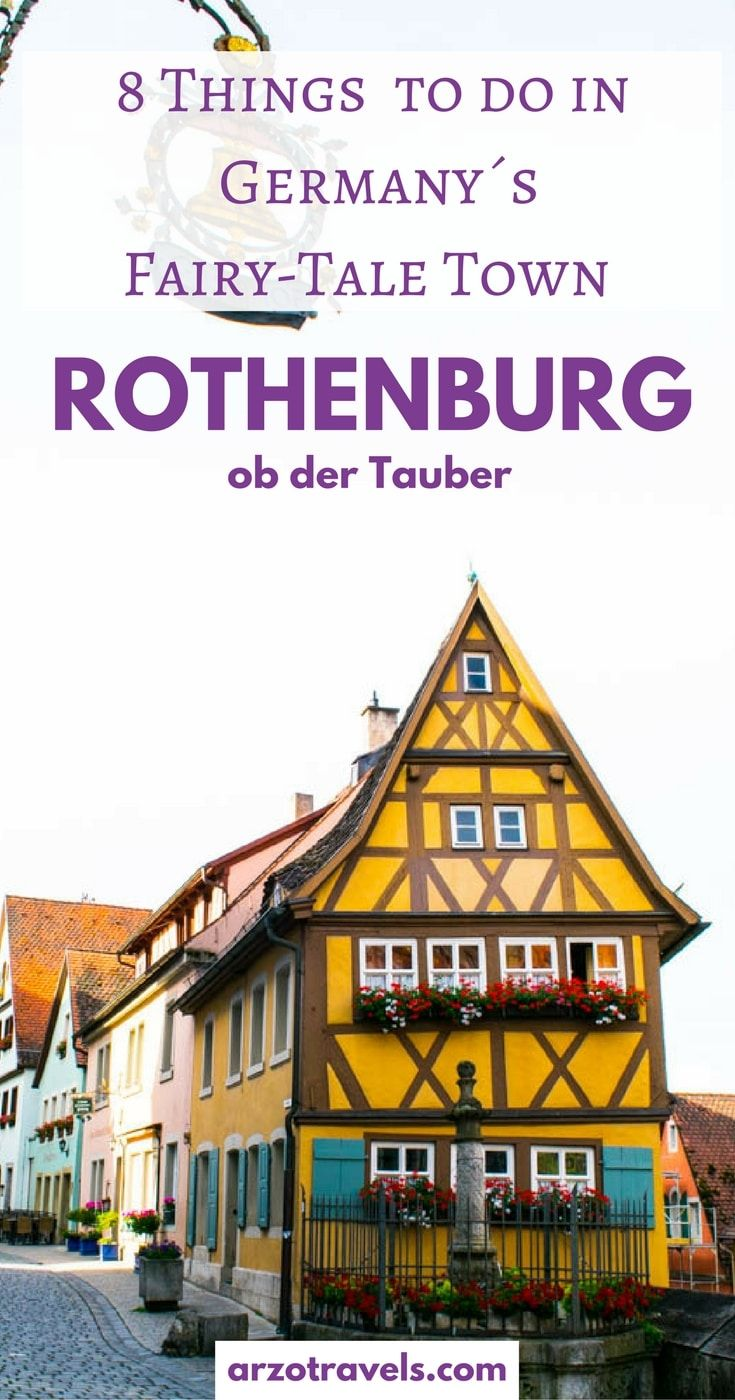How to Spend 36 Hours in Rothenburg ob der Tauber, one of Germany´s most beautiful town/city. 8 top things to do in Rothenburg - a very romantic place in Bavaria.