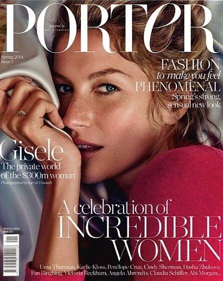 Gisele Bundchen for Porter #1 Spring 2014 by Inez and Vinoodh