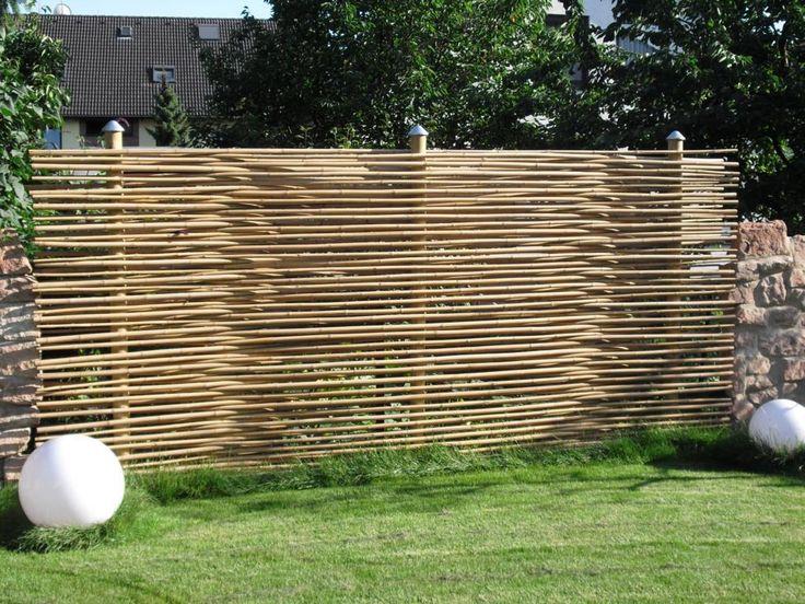 Sichtschutz Rankgitter Bambus Sichtschutz