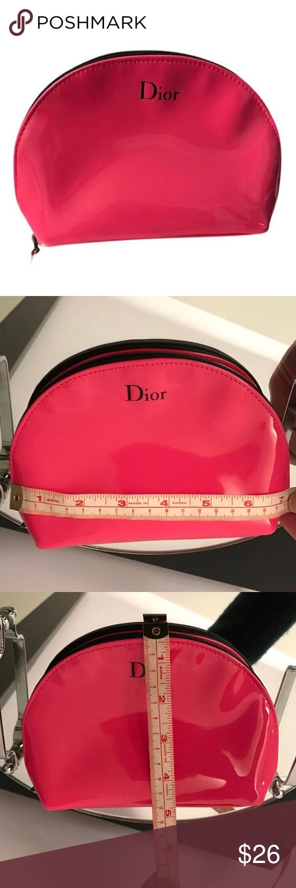 NEW PINK DIOR MAKEUP BAG Brand new! Super cute DIOR makeup bag. Came with purchase of Dior Makeup from Nordstrom Dior Makeup