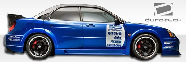 2004-2005 Subaru Impreza WRX STI 4DR Duraflex C-GT Wide Body Side Skirts Rocker Panels - 2 Piece