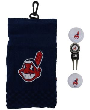 Team Golf Cleveland Indians Golf Towel Gift Set - Blue