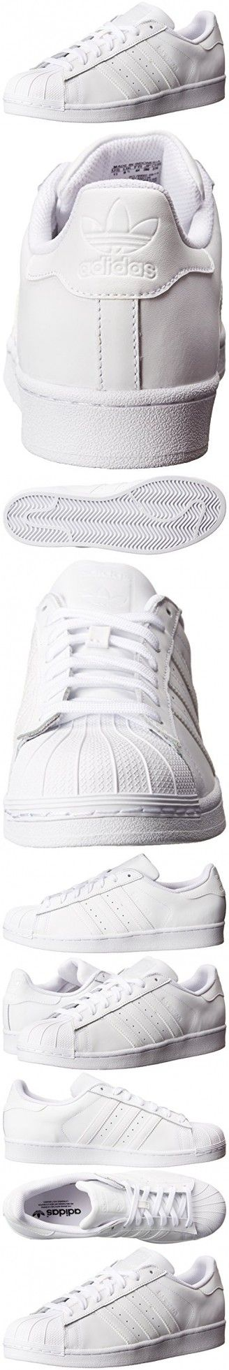 Adidas Originals Women's Superstar Foundation Casual Sneaker,  White/White/White,  9.5 M US