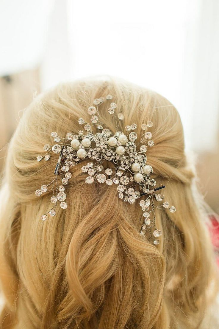 Elegant Sage Green Wedding – Bridal hair clip – hair accessories