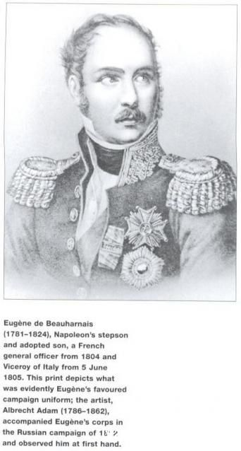 Eugène de Beaumarchais (1781-1824) Napoleon's stepson, french general officer from 1804 and vice-roi of italy