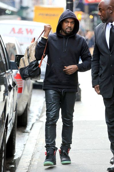 Kanye-Wet-Givenchy-double-layer-hooded-sweatshirt-Custom-snakeskin-backpack-bag