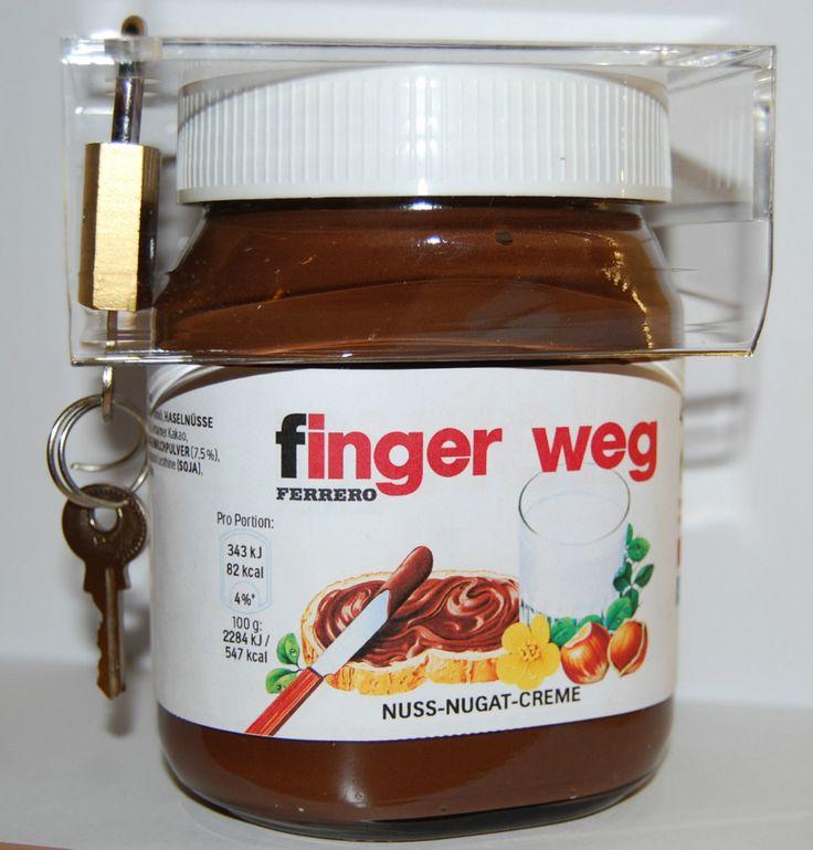 oder diese nutella sperre es verhindert dass nutella. Black Bedroom Furniture Sets. Home Design Ideas