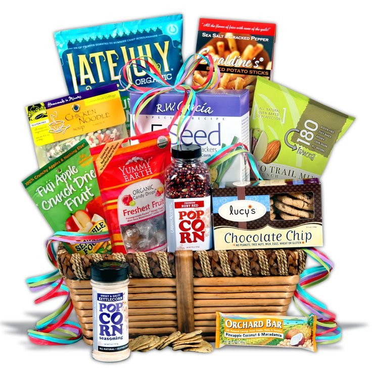 Best 25 gluten free gift baskets ideas on pinterest cupcake gluten free gift basket classic care packages and gifts ocm inside this negle Images