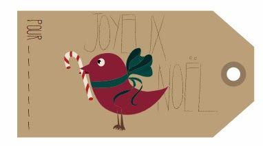 Petits canaillous | Des étiquettes de Noël | http://www.petits-canaillous.fr