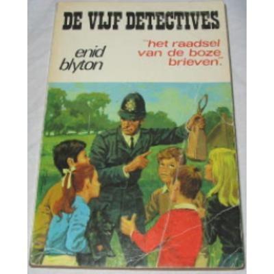 Boek De vijf detectives: Het raadsel van de boze brieven - Enid Blyton