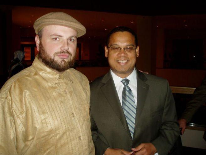 Rep. Keith Ellison (D-ummah) at right, with Muslim thug Umar Lee