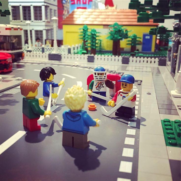 """(@brickver) på Instagram: """"Street hockey ... #lego #legocity #hockey #streethockey #goalie #city #street #kids #play #reebok…"""""""
