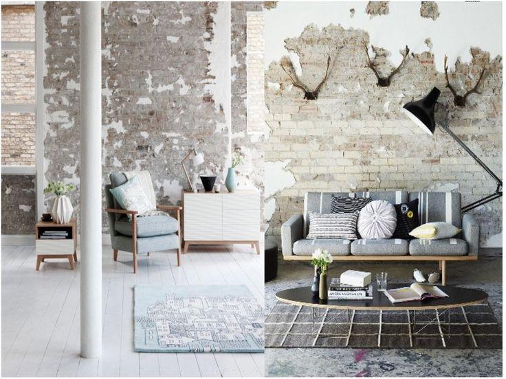 Decoración vintage industrial: paredes
