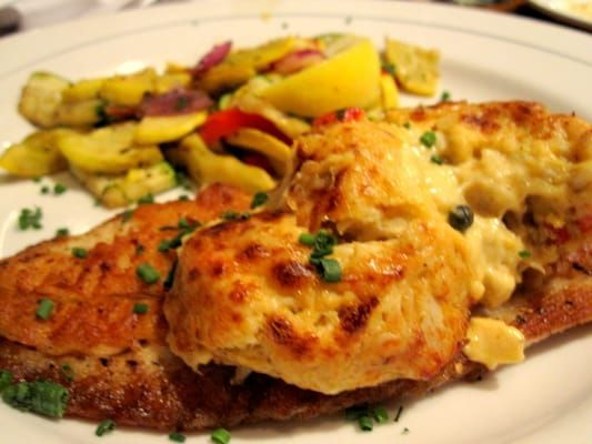 Blackened Rockfish with Crab Imperial at Phillips Seafood in Baltimore, Maryland.      CRAB IMPERIAL  Phillips Seafood Restaurant Recip...