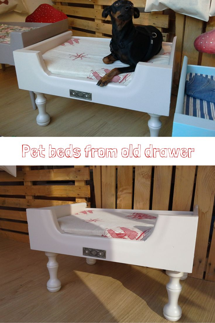 #Pet beds from old drawer #restyling #reuse #recycle #wood #pet #furniture #art #creativity #dog #cat #animals #design #restyling #doridesign