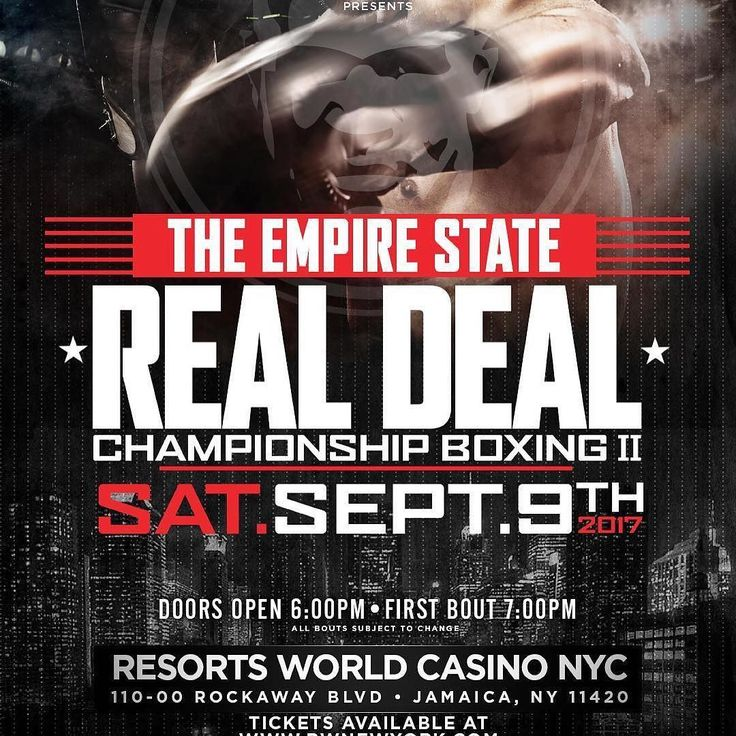 The Real Deal Boxing Takes over The Empire State Saturday September 9th!! At the Resorts World Casino!! Purchase your tickets now!! or Get your Virtual Live Stream Admission on this website!! www.therealdealboxing.com #boxing #boxeo #boxingheads #boxingfans #boxingday #boxingnews #boxinglife #boxinggym #boxingtraining #boxingislife #boxingworkout #boxingjunky #frontproof #frontproofmedia