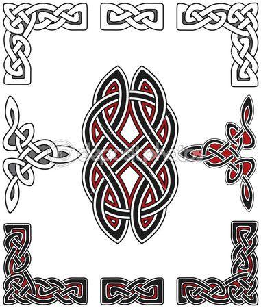 Набор элементов, кельтский дизайн — Векторная картинка #3853396