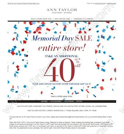 memorial day sale ads 2014