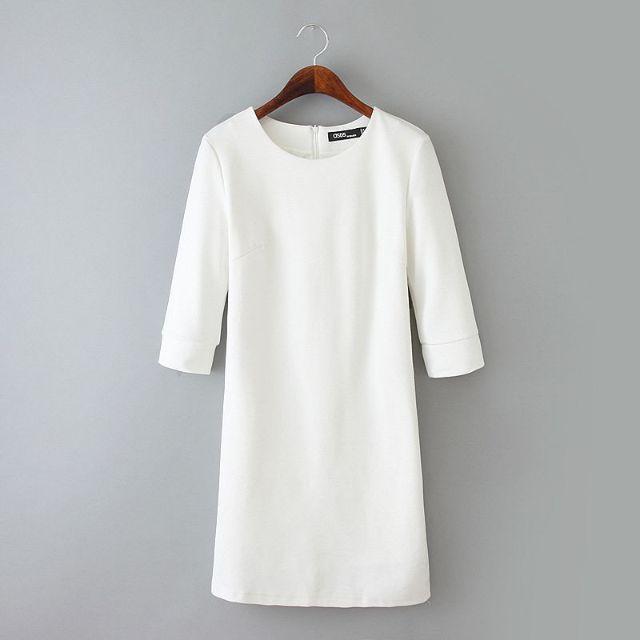 Code : MS19197Mat : Cottonback zipper  S : length 84 bust 82 shoulder 35 waist 74 M : length 85 bust 87 shoulder 36 waist 79 L : length 86 bust 92 shoulder 37 waist 84