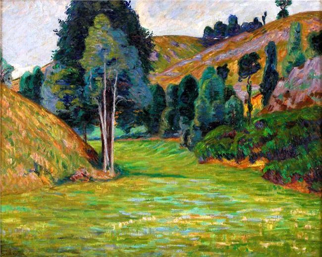 Valley in Pontgibaud by @art_guillaumin #impressionism