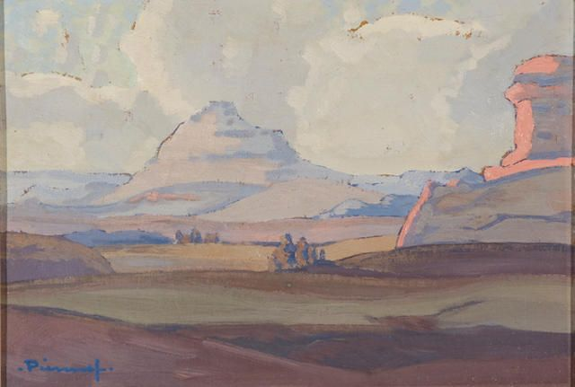 Jacob Hendrik Pierneef (South African, 1886-1957) Landscape near Clarens
