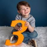 Age Signs Wooden Numbers for Children's Photo Props – Z Create Design