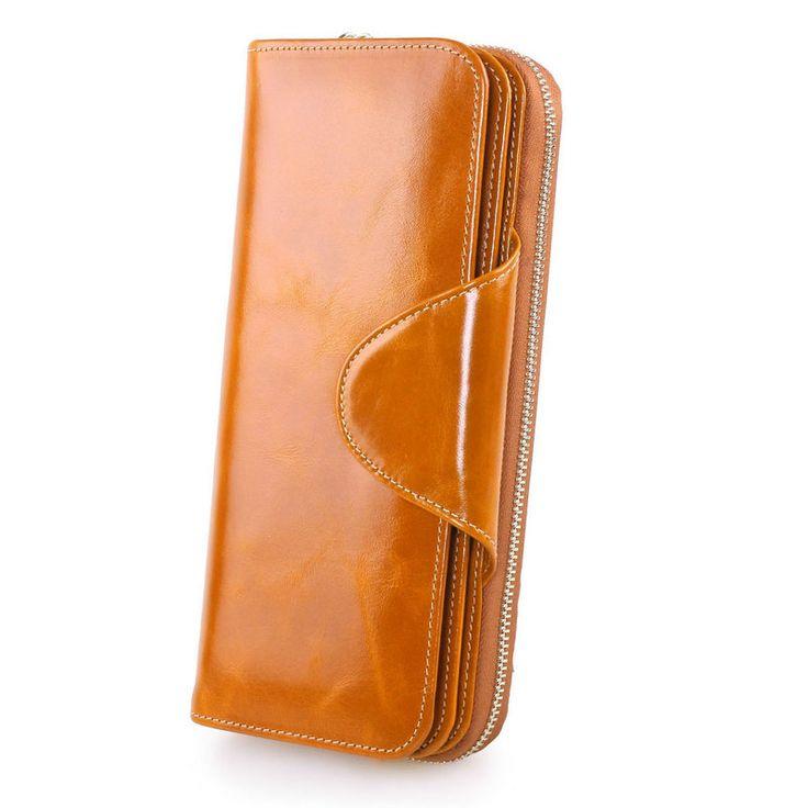 Billeteras de piel de marca moda para mujeres cartera gran capacidad más titulares de tarjetas dama [LH63026] - €33.10 : bzbolsos.com