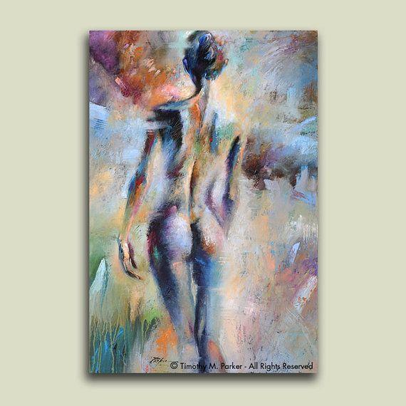 IN de MIST - Fine Art Prints op geweven papier of op Canvas - Limited Edition van 295 Dit abstracte figuratief kunstwerk combineert de willekeurige energie van een abstract schilderij en de rustige pose van de vrouwelijke figuur.  Hand ondertekend door de kunstenaar - Tim Parker  ::: VIER VERSCHILLENDE GROOTTEN:::  Afbeeldingsgrootte: 12 x 16 op Fine Art papier Papierformaat: 16 x 20 (afdrukken is hand getekend in de witte rand) Ingelijste - past op elke standaard maat 16 x 20 Frame of Mat…