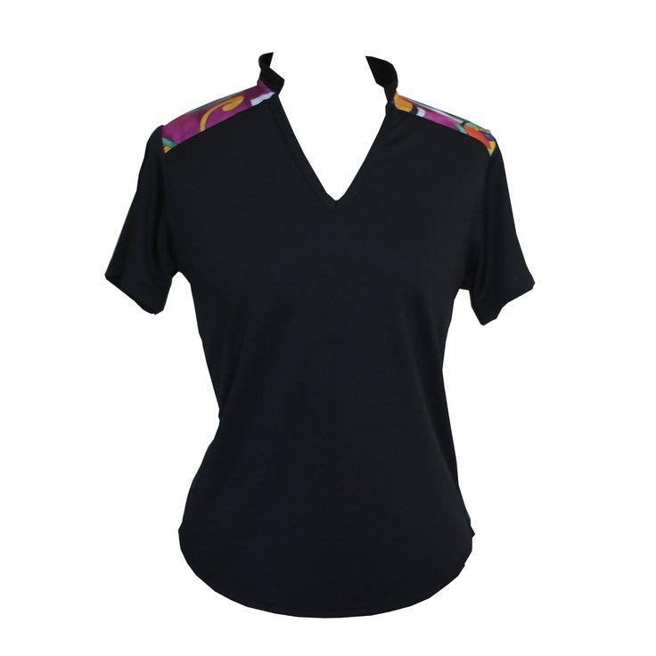 (http://www.ladygolfwear.com.au/black-golf-shirt-with-pattern/)