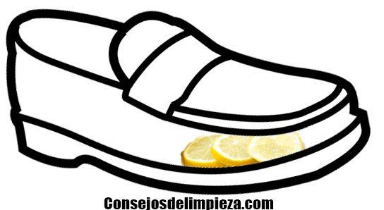 Con limón puede desodorizar su calzado.
