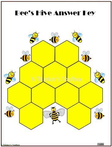 Bee Hive Pattern Block Puzzle #animal