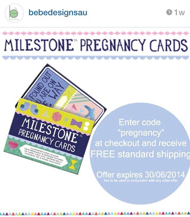Milestone Pregnancy Cards ~ Free Shipping till midnight tonight www.bebedesigns.com.au