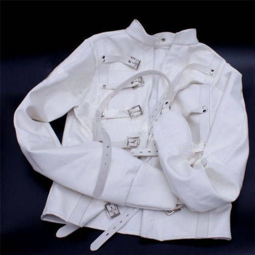 White Asylum Straight Jacket Costume L/XL Large Armbinder