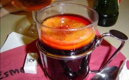 ponche caliente de vino