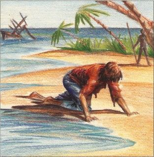 En frasco pequeño.: Robinson desafortunado. Ana María Shua. Robinson desafortunado, otro magnífico mínimo metaliterario de la gran Ana María Shua.  #AnaMaríaShua #RobinsonCrusoe #Náufrago #Naufragio #Isla #Escribir #Escritura #NaufragioLiterario