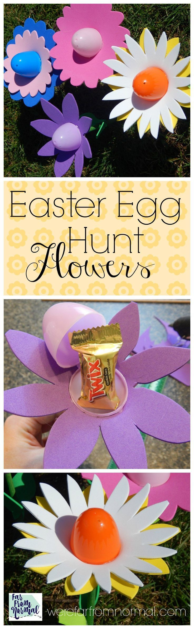 Are you planning a fun filled Easter egg hunt? These flowers make a fun addition! Fill them with goodies for hunting or in baskets and decorations!