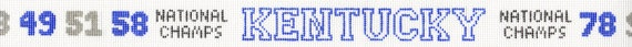 University of Kentucky needlepoint belt by NeedlepointbyLaura, $60.00