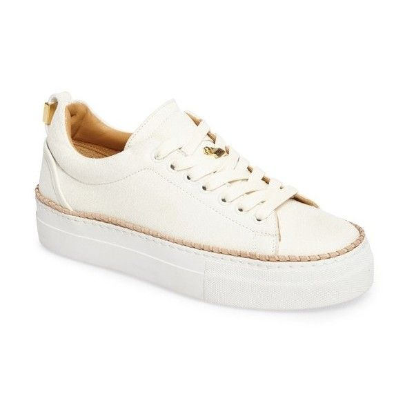 Women's Buscemi Tennis Crepone Sneaker (1.931.445 COP) ❤ liked on Polyvore featuring shoes, sneakers, off white, platform tennis shoes, tennis shoes sneakers, platform sneakers, low profile shoes and tennis sneakers
