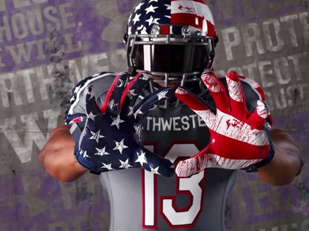 new football uniforms that look like American Flag   Football uniforms honoring Wounded Warrior Project slammed as 'gore ...
