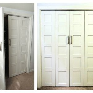 Mirrored Bifold Closet Doors Hardware