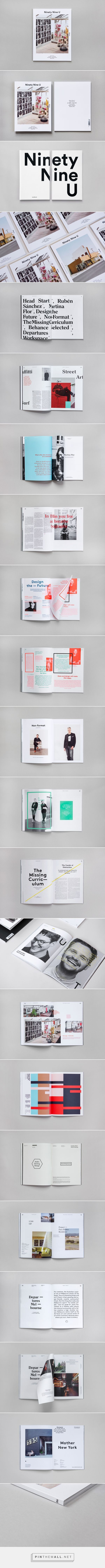 #layout #magazine Ninety Nine U Magazine No 10 on Behance